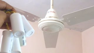 What Will Happen If I Connect  5 Capacitors Will It Survive or Not Ceiling Fan Torture Test Part I
