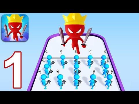 MERGE BATTLE 3D - Walkthrough Gameplay Part 1 - INTRO (iOS Android)