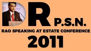 Dr P S N  Rao speaking at Estate
