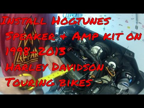 install hogtunes speakers \u0026 amp on 1998 2013 harley davidson touring