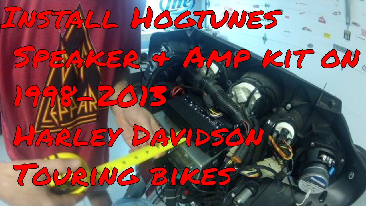 hight resolution of install hogtunes speakers amp on 1998 2013 harley davidson touring