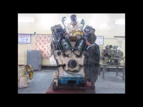 Cut model ALCO engine