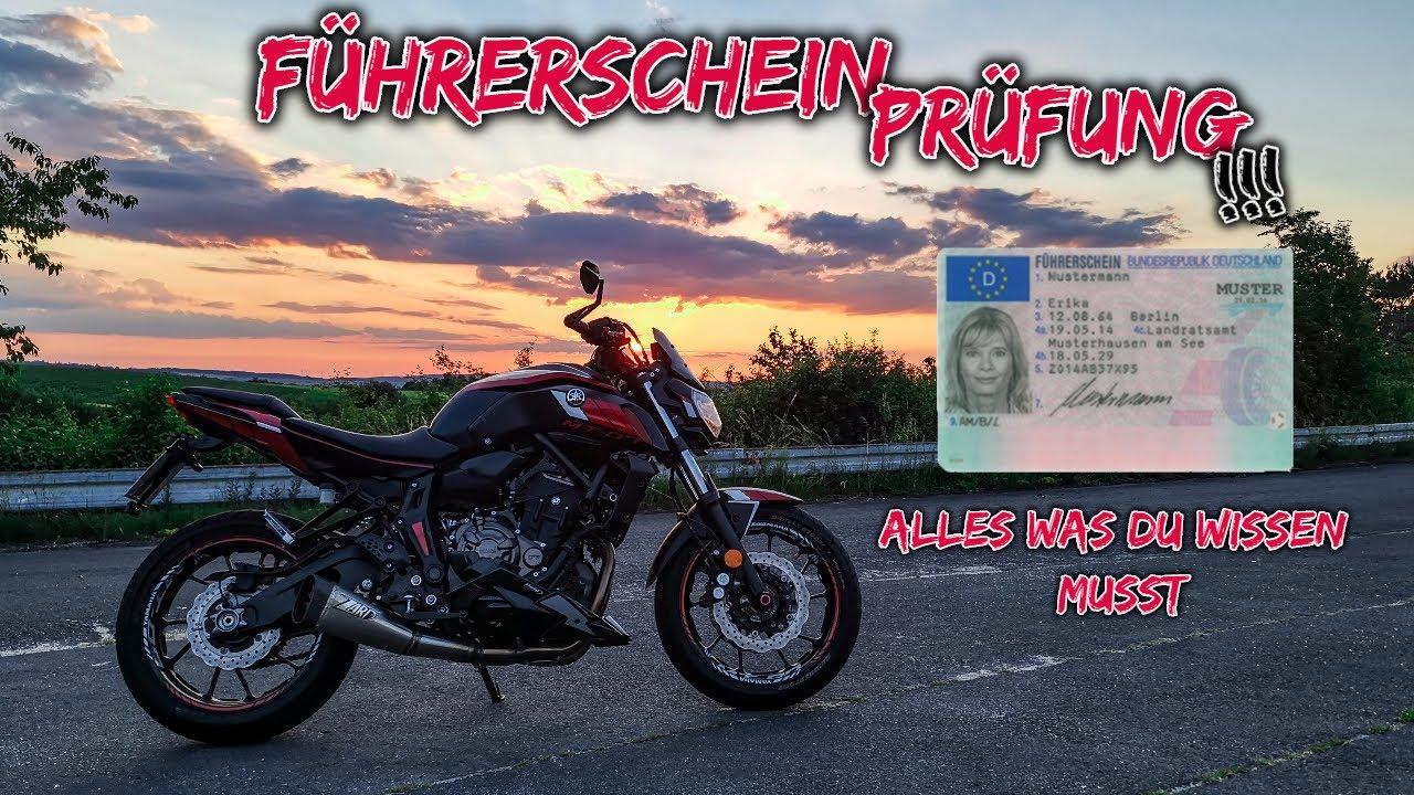MOTORRADFÜHRERSCHEIN PRÜFUNGSSIMULATION | So läuft eine Prüfung ab!