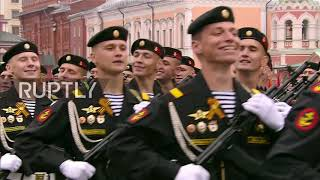 Russia: Thousands of servicemen, women and cadets march through Red Square on Victory Day