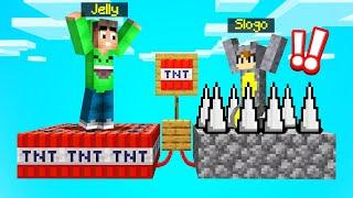 WRONG BLOCK = DEATH! (Minecraft Block Shuffle Game)