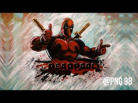 Deadpool T-Shirt Timelapse Drawing