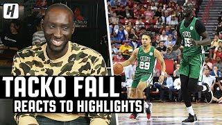 Tacko Fall Reacts To Tacko Fall Highlights! | The Reel