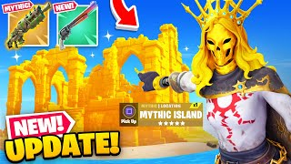 *NEW* MYTHIC ISLAND Update in Fortnite! (Gold Lara Skin, Exotic Six-Shooter + MORE)