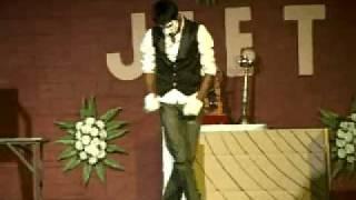 "PANKUL LAKHMERA MBA 3rd SEM JIET jodhpur SOLO dance on ""Sau dard hai"""""