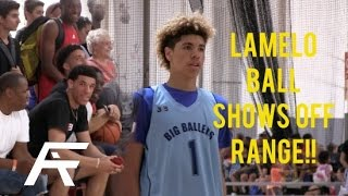 LaMelo Shows Off Range In Front of Lonzo & LiAngelo Ball | Game Footage