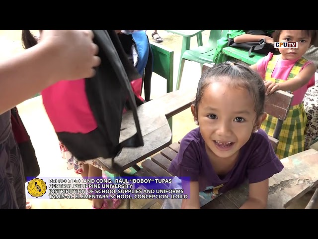 PROJECT ETC CPU DISTRIBUTION OF BAGS At TAMIS AC ELEMENTARY SCHOOL CONCEPCION ILOILO