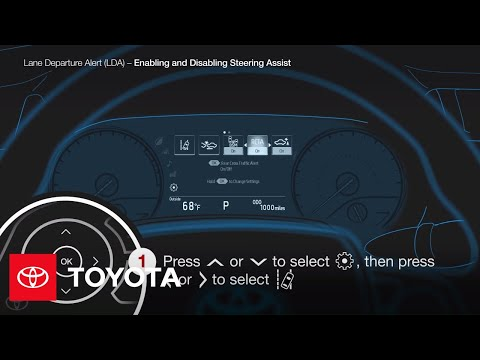How to Turn On and Off Steering Assist | Toyota
