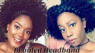 How To | Braidout On Natural Hair + Braided Headband Mini Marley Inspired
