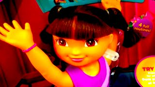 "DORA THE EXPLORER ""Fantastic Gymnastics Dora"" Nickelodeon [Fisher Price] DORA Gymnast Doll"