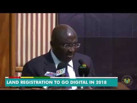 Dr. Bawumia to Make Land Registration to Go Digital in 2018