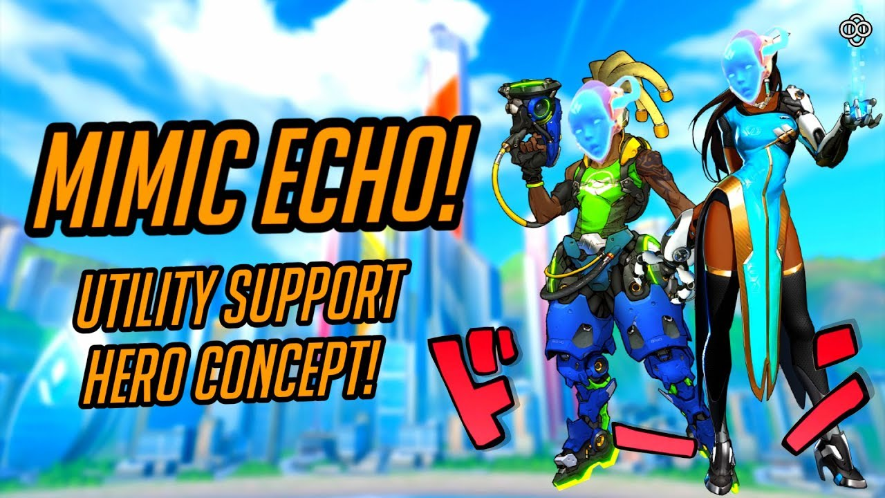 Download Overwatch | Echo Support Hero Concept! [3/5] Mimic Echo, the Copy Queen! [Blizzcon New Hero 32?]