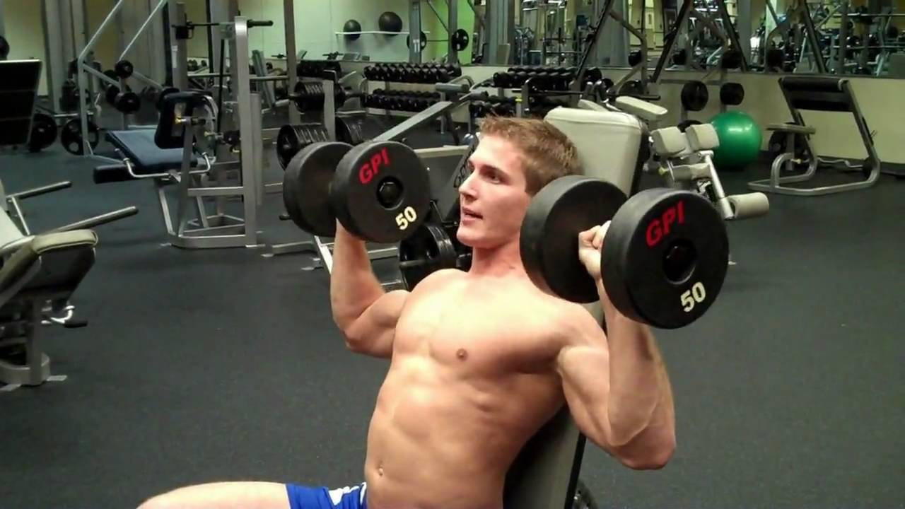 How To Dumbbell Shoulder Press Youtube