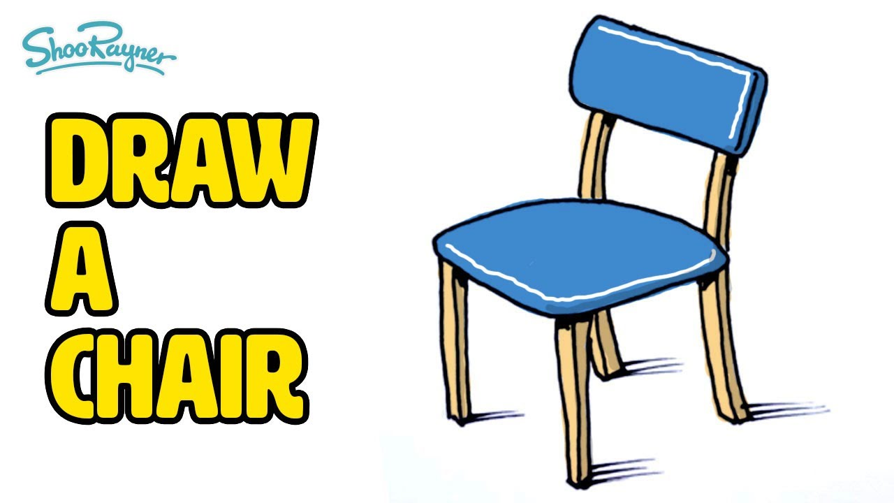 How to draw a chair - YouTube