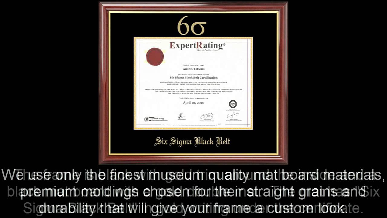 Six sigma black belt certificate frame mahogany with black mat six sigma black belt certificate frame mahogany with black mat 1betcityfo Images