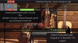 Buxtehude D.| Fugue in C BuxWV 174 organ