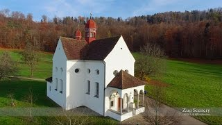 4K Verena Chapel Zugerberg SWITZERLAND アルプス山脈 dji airview
