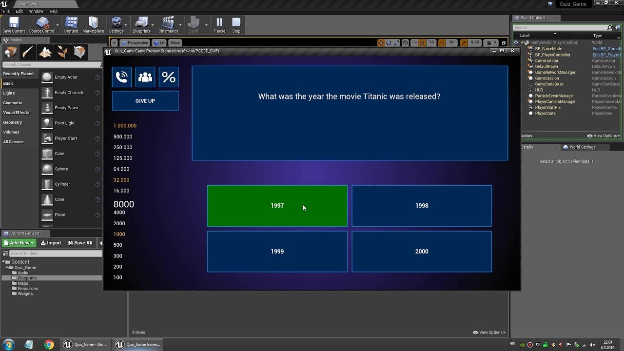 Quiz Game Starter Kit - Showcase Video - Unreal Engine 4 Template