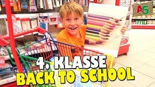 Back to school  📕 📒 📗 Schulsachen kaufen für die 4. Klasse  👦 Ash5ive 🙃 Spielzeug und Kinder Kanal 😁