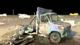 Ambulance Explosion and Laser Scan of Debris.wmv