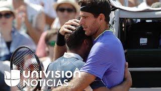 El conmovedor abrazo de Juan Martín del Potro a Nicolás Almagro por su lesión en Roland Garros