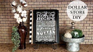 Dollar Tree DIY  Rustic Farmhouse Recipe Book  Simple &amp Stylish!