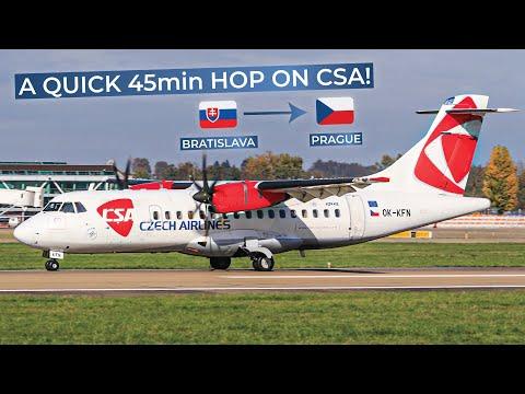 TRIPREPORT | CSA Czech Airlines (ECONOMY) | ATR 42-500 | Bratislava - Prague