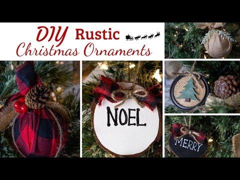DIY RUSTIC CHRISTMAS ORNAMENTS | 8 ORNAMENT IDEAS