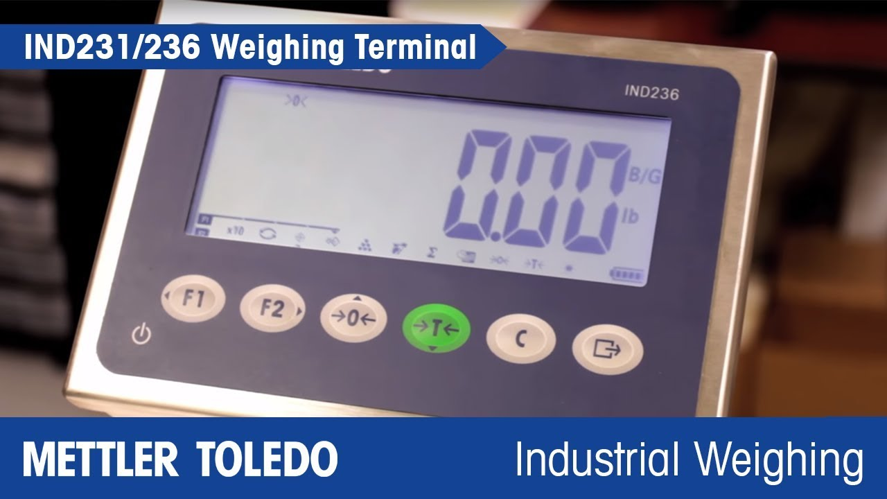 IND231 and IND236 Weighing Terminals Increase Your Productivity – METTLER  TOLEDO - es