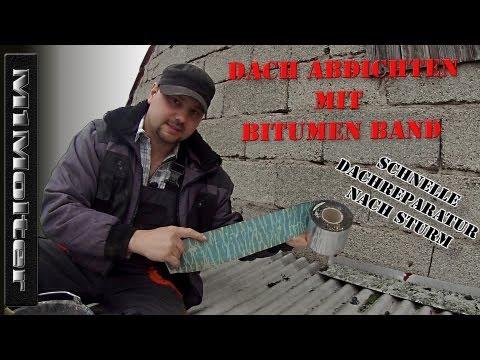 Dach Abdichten mit Bitumen Band (Dach Reparaturband) - Schnelle Dachreparatur von M1Molter