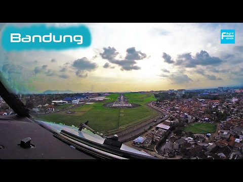 [Cockpit] BANDUNG - Indonesia B737 Landing