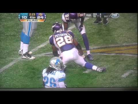 Adrian Peterson lions great run holding called back 2010-09-27-
