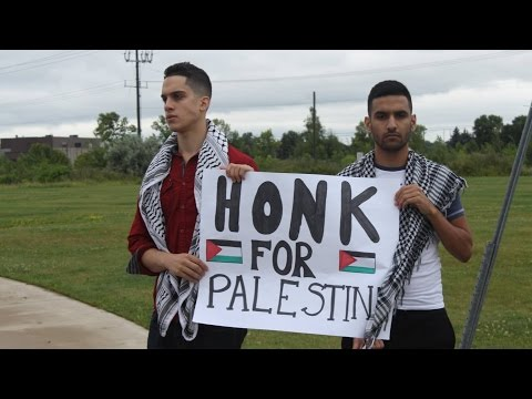 HONK FOR PALESTINE!