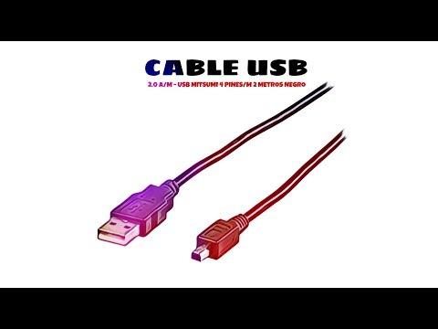 Video de Cable USB 2.0 USB A/M - USB Mitsumi 4-Pines/M 2 M Negro