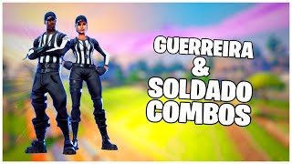 SHOWING THE * SKINS * STRIPED SOLDIER AND WHISTLE WARRIOR COMBOS | FORTNITE