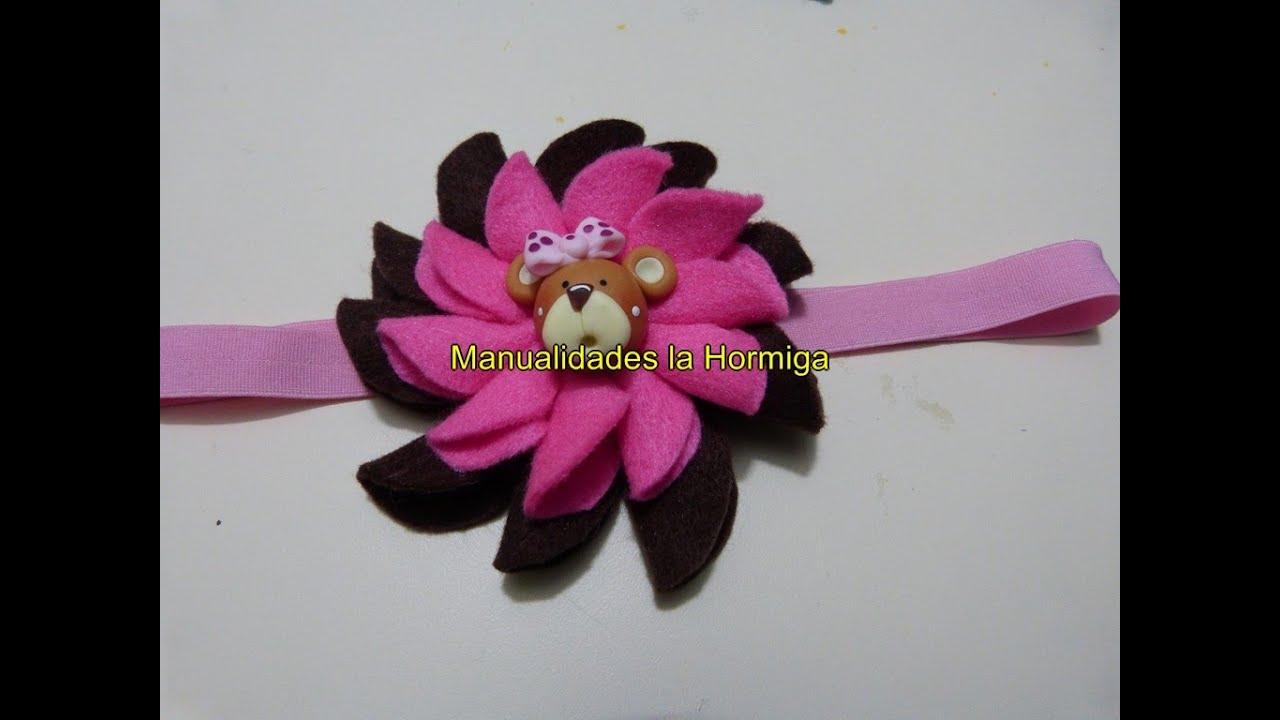 Mo os flores en fieltro para decorar accesorios para el - Accesorios para decorar ...