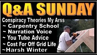 Q&A SUNDAY episode 11   Random Questions About Our OFF GRID CABIN LIFE