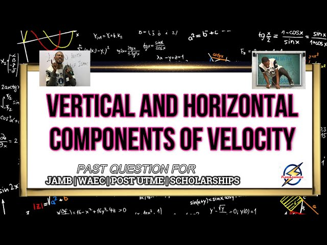 Horizontal & Vertical Velocity of a Car | Physics Past Question (2021 Prep)