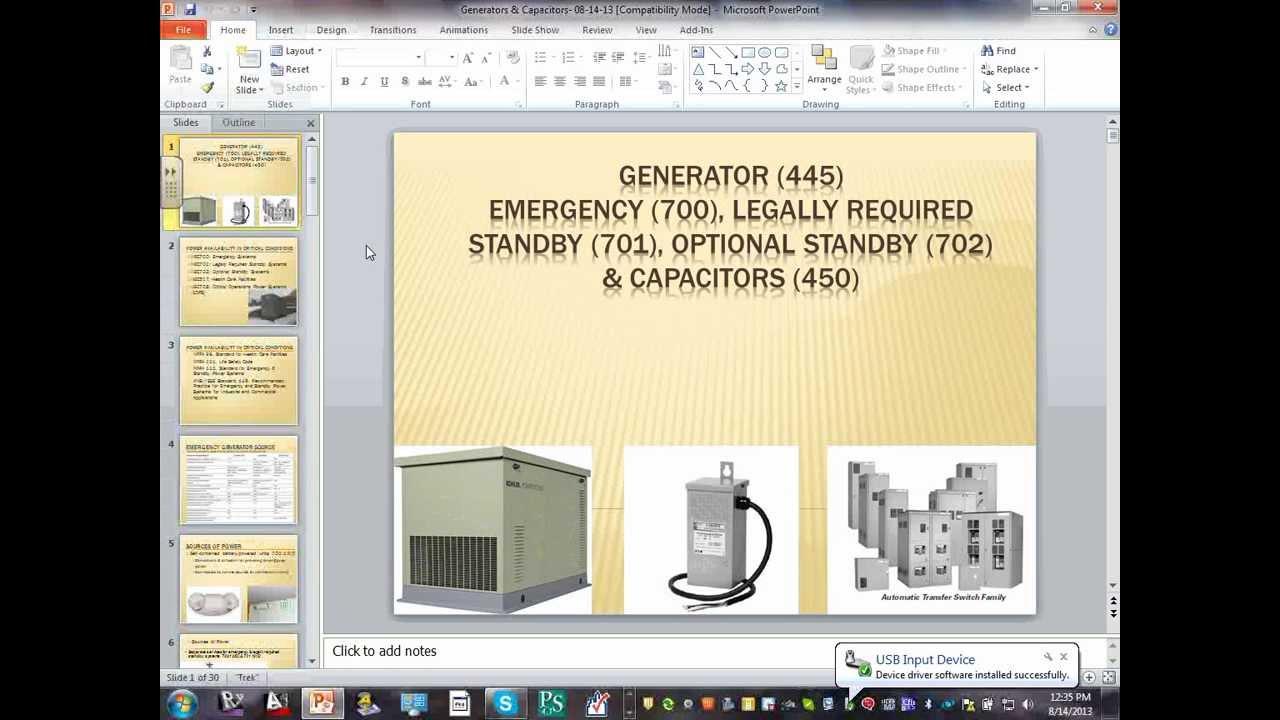 Class#08- Generators & Capacitors Feeders Sizing-08 14 13