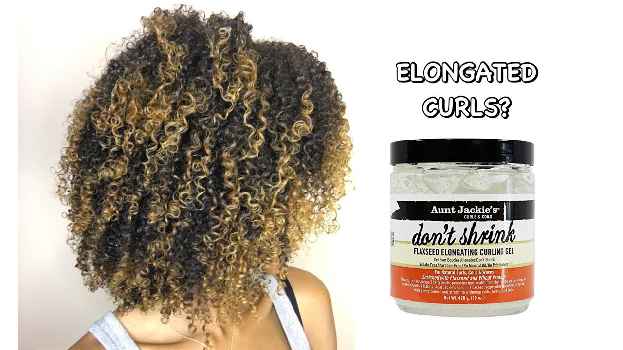Elongated Curls Aunt Jackies Dont Shrink Flaxseed Gel 👍🏽 Or 👎🏽 Youtube