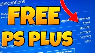 How to get FREE PS Plus 🤑FREE PS PLUS WORKING 2018 WITH PROOF!