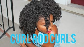 4c Curl Rod Styling /Vlog