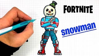 HOW TO DRAW SNOWMAN (FORTNITE SKIN)