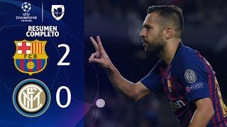 Barcelona 2-0 Inter Milan - GOLES Y RESUMEN COMPLETO - Grupo B UEFA Champions League