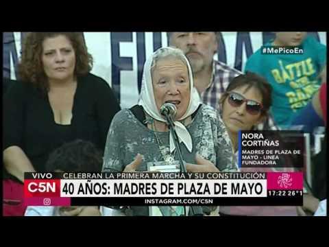 C5N - Remix De Noticias: Nora Cortiñas en acto de Plaza de Mayo