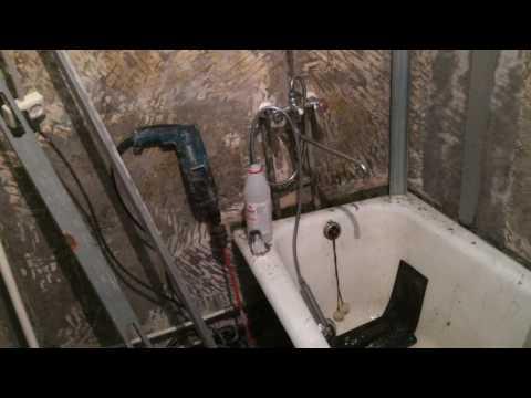 Попытка капитального ремонта ванной комнаты в хрущевке за 3 дня